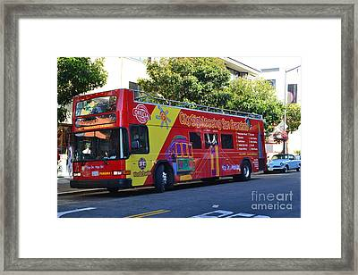 San Francisco Tour Bus Framed Print by Michael Inscoe