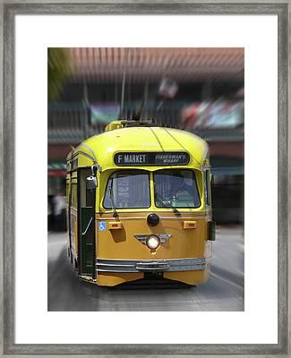 San Francisco Trolley Car Framed Print by Mike McGlothlen