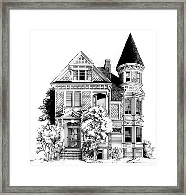 San Francisco Victorian Framed Print by Mary Palmer