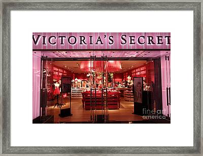 San Francisco Victoria's Secret Store - 5d20652 Framed Print by Wingsdomain Art and Photography