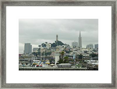 San Francisco View From Fishermans Wharf Framed Print by Suzanne Gaff