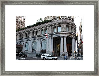 San Francisco Wells Fargo Building - 5d20603 Framed Print by Wingsdomain Art and Photography