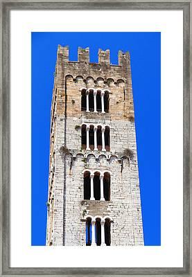 San Frediano Campanile Framed Print by Valentino Visentini