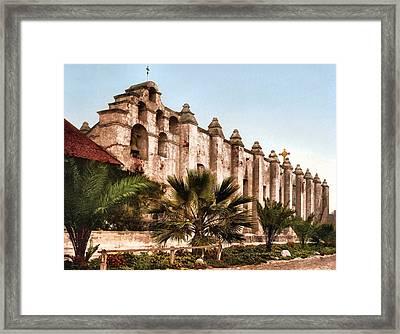 San Gabriel Mission 1899 Framed Print by Unknown