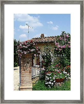 San Gimignano Beauty Of Tuscany  Framed Print by Irina Sztukowski