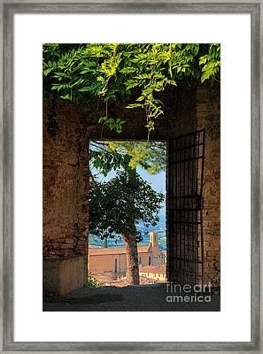 San Gimignano Door Framed Print by Inge Johnsson