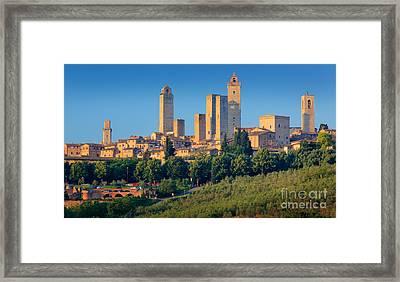 San Gimignano Skyline Framed Print by Inge Johnsson
