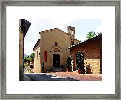 San Gimignano Tuscany Italy Framed Print by Irina Sztukowski