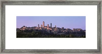 San Gimignano, Tuscany, Italy Framed Print by Panoramic Images
