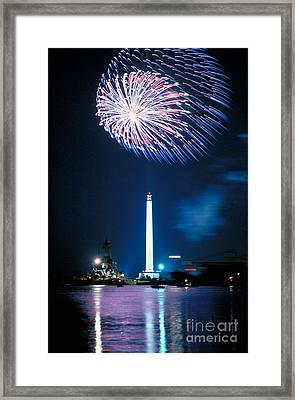 San Jacinto Monument Framed Print by Sam C Pierson Jr
