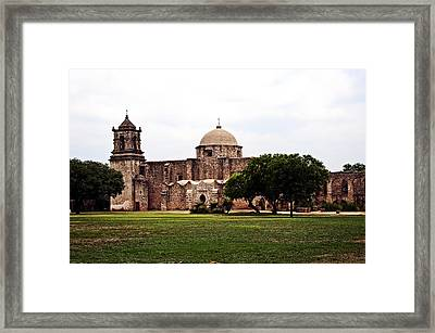 San Jose Mission Framed Print by Andy Crawford