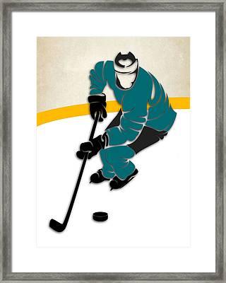 San Jose Sharks Rink Framed Print by Joe Hamilton