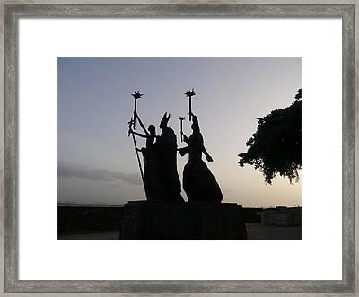 San Juan - La Rogativa Silhouette Framed Print by Richard Reeve