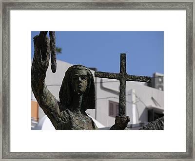 San Juan - La Rogativa Townswoman Framed Print by Richard Reeve