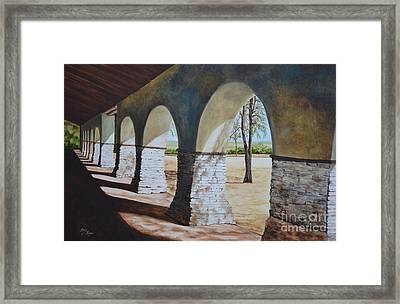 San Juan Bautista Mission Framed Print by Mary Rogers
