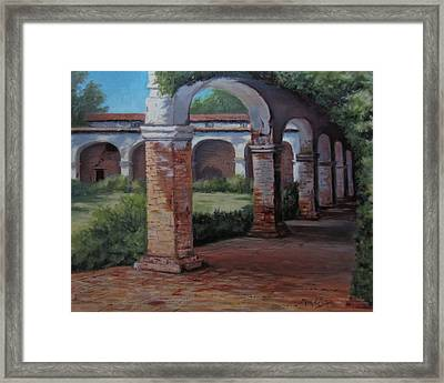 San Juan Capistrano  Framed Print by Mar Evers
