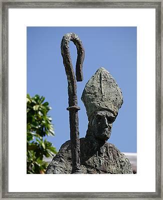 San Juan - La Rogativa Bishop Framed Print by Richard Reeve