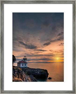 San Juan Sunset Framed Print by Dan Mihai