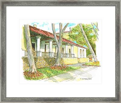 San Luis Obispo Mission - California Framed Print by Carlos G Groppa