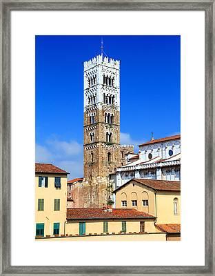 San Martino Cathedral Framed Print by Valentino Visentini