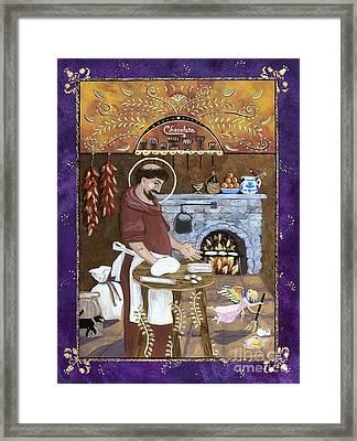 San Paschal Baylon Framed Print by Sue Betanzos
