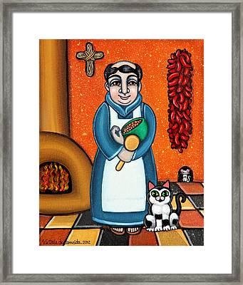San Pascual And Felix Framed Print by Victoria De Almeida