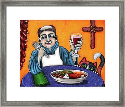 San Pascual Cheers Framed Print by Victoria De Almeida
