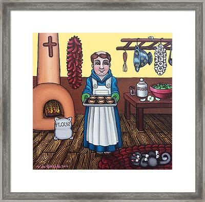 San Pascuals Empanaditas Framed Print by Victoria De Almeida
