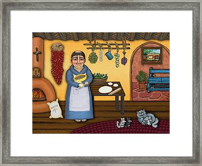 San Pascuals Kitchen 2 Framed Print by Victoria De Almeida