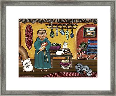 San Pascuals Kitchen Framed Print by Victoria De Almeida