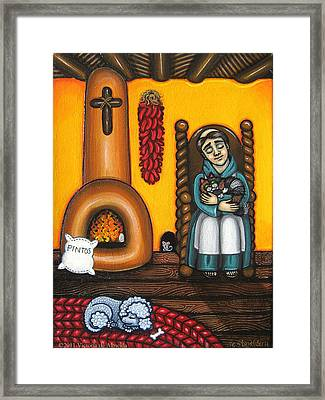 San Pascuals Nap Framed Print by Victoria De Almeida