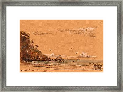 San Pedro Beach Framed Print by Juan  Bosco