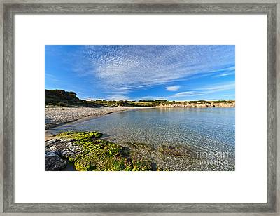 San Pietro Island - La Bobba Beach Framed Print by Antonio Scarpi
