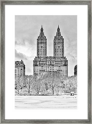 San Remo Towers Nyc Framed Print by Susan Candelario