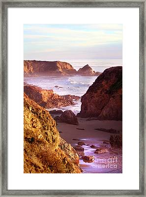 San Simeon Coastal View Framed Print by Michael Rock