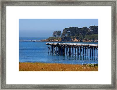 San Simeon Pier By Diana Sainz Framed Print by Diana Sainz