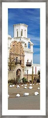 San Xavier Del Bac Tucson Az Framed Print by Panoramic Images