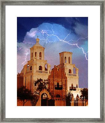 San Xavier Framed Print by Jeanette Brown