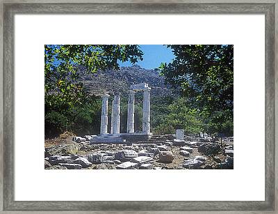 Sanctuary Of Gods-goddesses Framed Print by Andonis Katanos