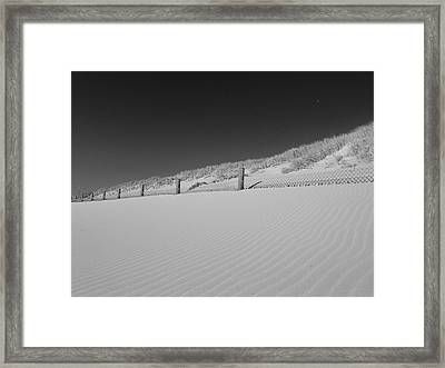 Sand And Moon B W Framed Print by Gary Lester