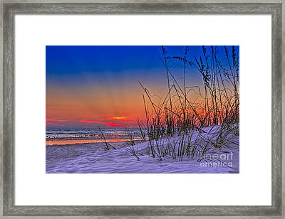 Sand And Sea Framed Print by Marvin Spates