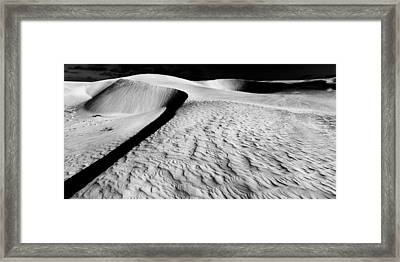 Sand And Shadows Framed Print by Julian Cook