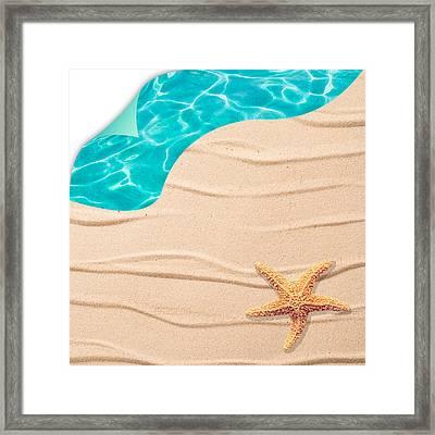 Sand Background Framed Print by Amanda Elwell