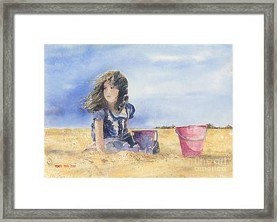 Sand Castle Dreams Framed Print by Monte Toon