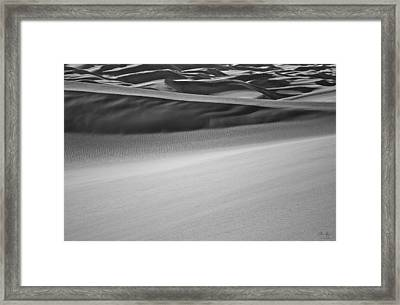 Sand Dunes Abstract Framed Print by Aaron Spong