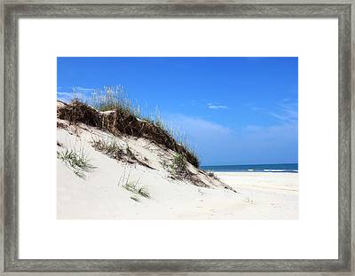 Sand Dunes Of Corolla Outer Banks Obx Framed Print by Design Turnpike