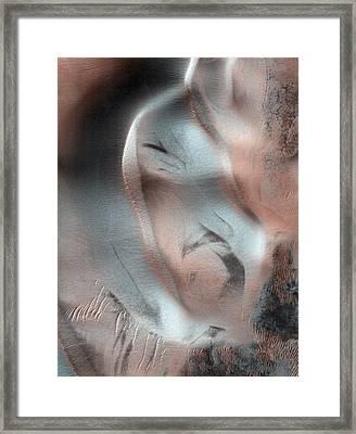 Sand Dunes On Mars Framed Print by Nasa