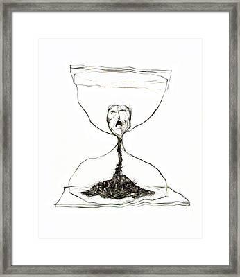 Sand Glass Framed Print by Michal Boubin