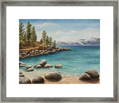 Sand Harbor Lake Tahoe Framed Print by Darice Machel McGuire