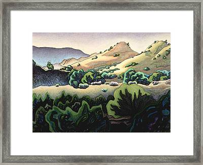 Sand Hills Of La Madero Arroyo Framed Print by Dale Beckman